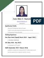 2018 Resume