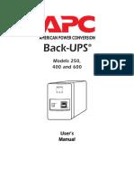 APC UPS Operations Manual