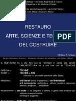 Fondamenti di restauro - Arti, scienze e tecniche del costruire