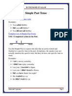 Simple Past Tense New