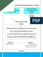 Memoire Optimisation de la gestion de la tresorerie dans une société internationale de transit.pdf