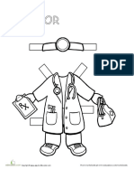 Career Paper Dolls Doctor
