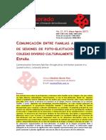 Comunicación Entre Familias a Través de Sesiones de Foto-elicitación en Un Colegio Diverso Culturalmente de España