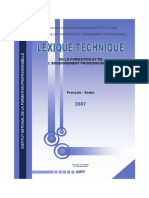 BTP Lexique Technique Fp