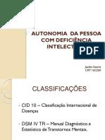 Autonomia Da Pessoa Com Deficiência Intelectual