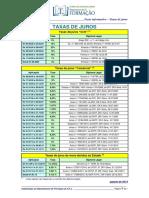 Taxas de Juros 2013 07