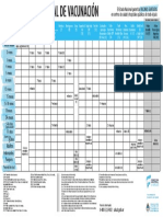 Calendario Nacional Vacunación