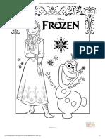 Frozen Coloring Pages Pdf