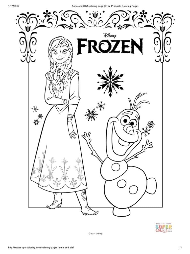 Frozen - Coloring Book - 28 To 282 Pages  PDF  Disney Franchises