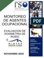 Informe de Monitoreo de Dosimetria de Ruido