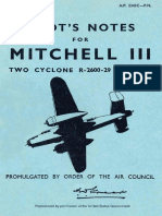 North American B-25J Mitchell III Pilots Notes