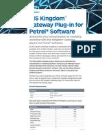 IHS Kingdom Gateway Plug in for Petrel Software Brochure