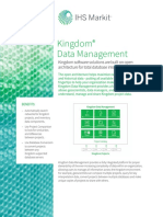IHS Kingdom Data Management Brochure