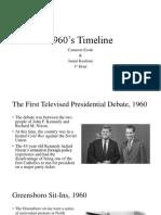 1960's Timeline