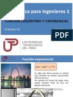 PPT Semana 03 Ses 06 Función Logaritmo y exponencial