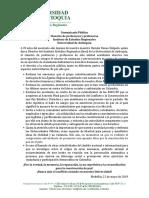 Comunicado Claustro Iner 22-05-2019