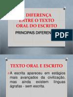 texto oral vs texto escrito