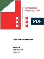 Begroting 2011, Gemeente Amsterdam (Raadsdruk)