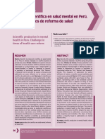 Salud Mental en El Peru Estadisticas