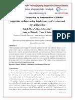 Ethyl alcohol production and optimisation