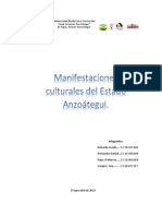 Informe Sobre Las Manifestaciones Culturales Del Estado Anzoátegui y Sus Influencias Culturales