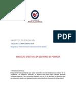 Escuelas Efectivas Sectores Pobreza