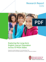 WIDA Report Long Term English Learner Population