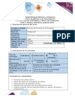 Guía de Actividades y Rúbrica de Evaluación - Fase 3 - Conjugar Verbos, Adverbios, Preposiciones