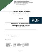 Méthodes Mathématiques de La Gestion de Stocks Entreprise CeVital