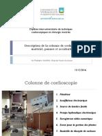 2016 Description de La Colonne de Coelioscopie Et Du