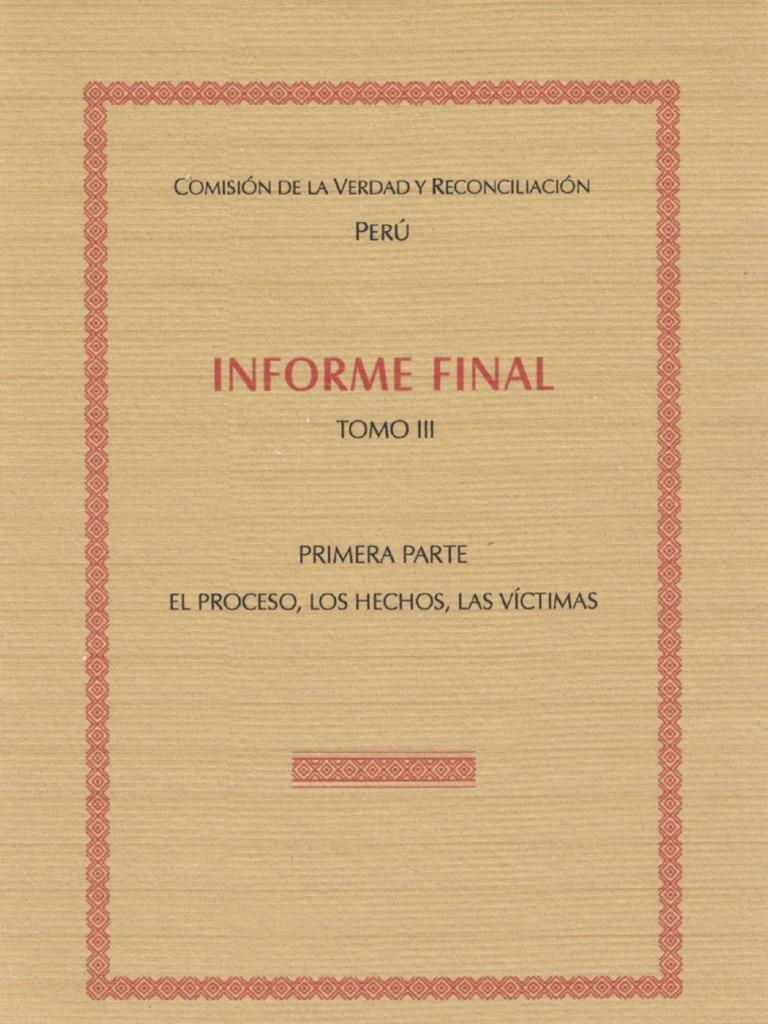 Informe Final de la Comisión de la Verdad y Reconciliación - Tomo ...