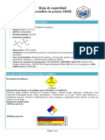 Ficha técnica de seguridad de sustancias químicas