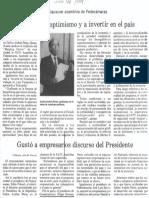 Al Clausurar Asamblea de Fedecamaras - CAP Llamo Al Optimismo y a Invertir en El Pais 22.10.1989