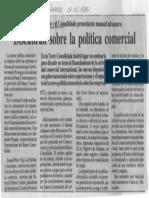 Consecomercio y El Consolidado Presentaran Manual Aduanero - Discutiran Sobre Politica Comercial - El Diario de Caracas 05.08.1989