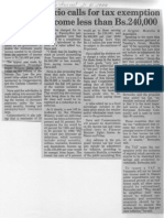 Edgard Romero Nava - Calls for Tax Exemption for Yearly Income Less Than Bs. 240000 - The Daily Journal 11.10.1989