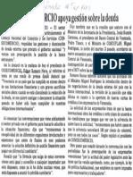 Edgard Romero Nava - Consecomercio Apoya Gestion Sobre La Deuda - Diario El Impulso 14.09.1989