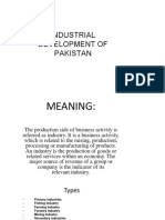 Indestrial development of pakistan