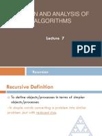 DAA Recursion (1)
