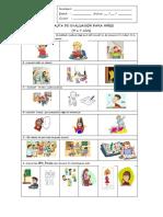 Pauta de Evaluación Para Niños Estilos de Aprendizajes