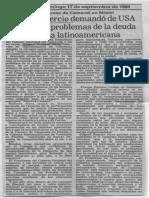 Edgard Romero Nava - Consecomercio Demando de USA Atencion a Problemas de La Deuda Externa Latinoamericana - Diario Panorama17.09.1989