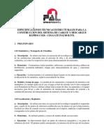 Especificaciones Muelle de Carga CO20 Colgate Palmolive
