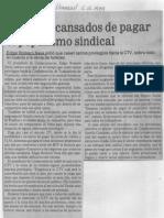 Edgard Romero Nava - Estamos Cansados de Pagar El Populismo Sindical - El Universal 05.10.1989