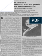 Edgard Romero Nava - Existe Un Vacio de Autoridad en El Pais Proclamo Consecomercio - 10.1989