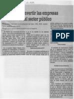 Edgard Romero Nava - Hay Que Reconvertir Las Empresas Ineficientes Del Sector Publico - Diario 2001 05.10.1989