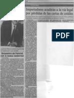 Edgard Romero Nava - Importadores Acudiran a La via Legal Por Perdidas de Las Cartas de Credito - El Nuevo Pais 28.08.1989
