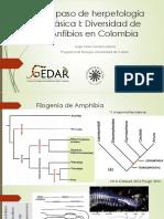 Repaso de Herpetología Básica I Amphibia I