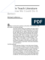 Why We Teach Literature (and How We Could Do It Better). LoMonico.pdf