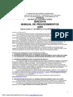 Bacova Manual de Procedimientos 2009
