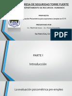 Presentacion Purebas Psicometricas STF