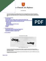 Winter War - The Finnish Air Defense